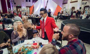 Calvin Kai Ku entertains guests at Grand Circus Rounds