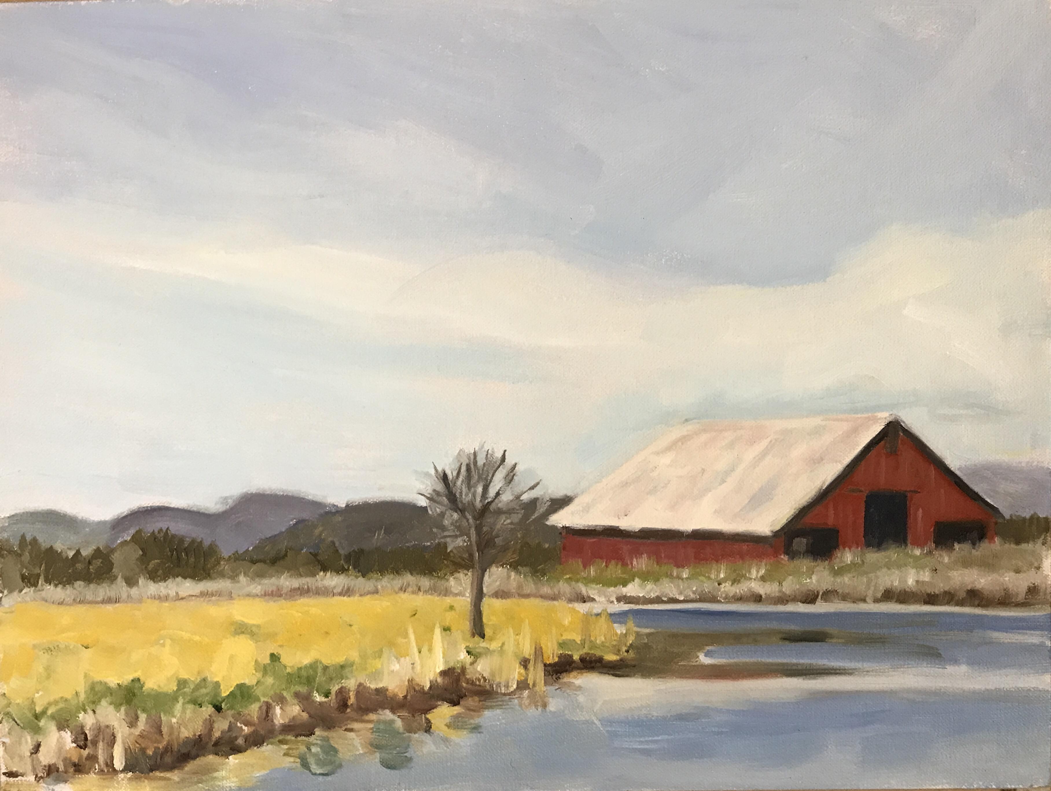"#8 - Fall River, Barn, 8""x8"""